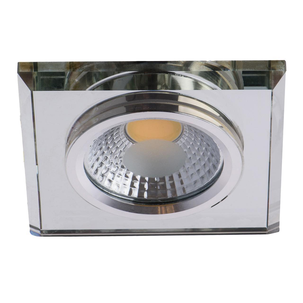 Фото - Встраиваемый светодиодный светильник De Markt Круз 12 637014901 cветильник галогенный de fran встраиваемый 1х50вт mr16 ip20 зел античное золото
