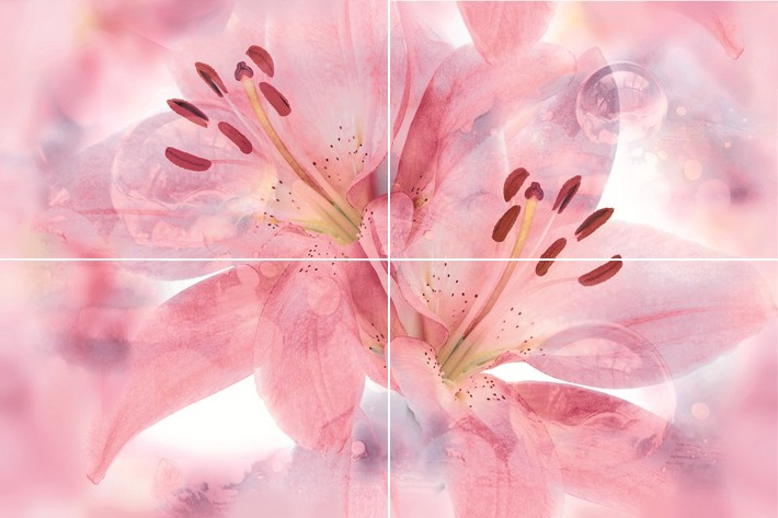 Lily Панно P4D154 60х40 панно дельта керамика sakura p2d131 20x60 комплект