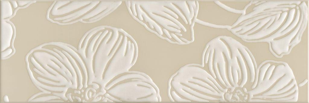 Декор Domino Dec Anya Flower Beige 20х60 декор venus ceramica aria cenefa beige 3x50