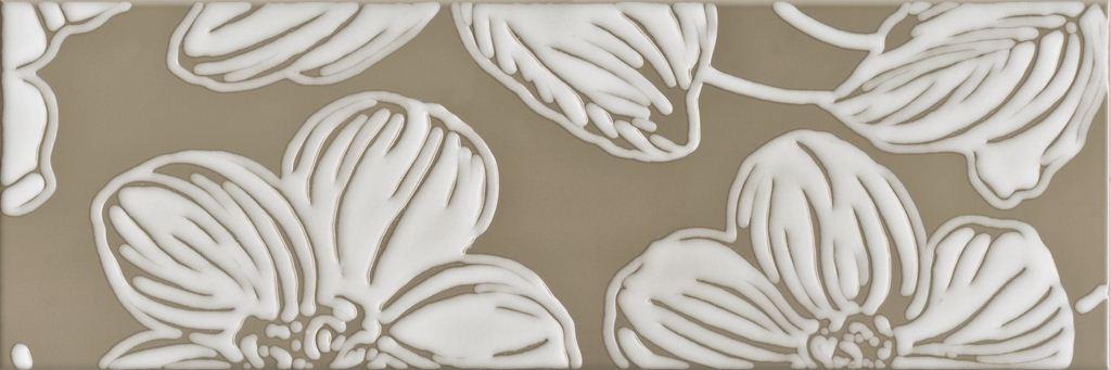 Декор Domino Dec Anya Flower Brown 20х60 flower candles print waterproof shower curtain