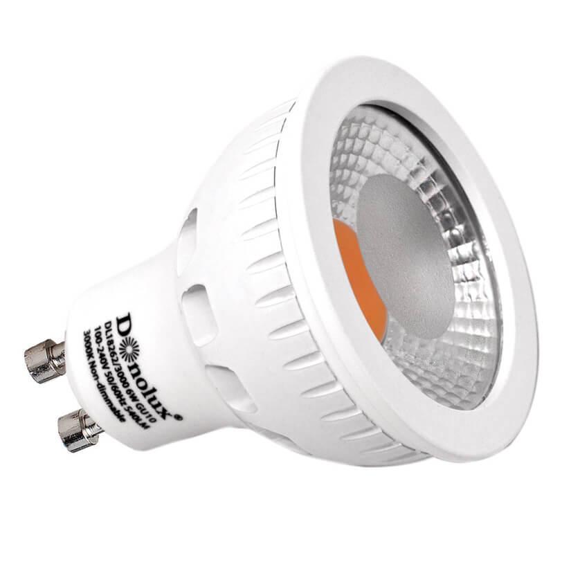 Лампа светодиодная GU10 6W 3000K прозрачная DL18262/3000 6W GU10 gu10 6w 710lm 6000k white cob led spot light ac 220 240v