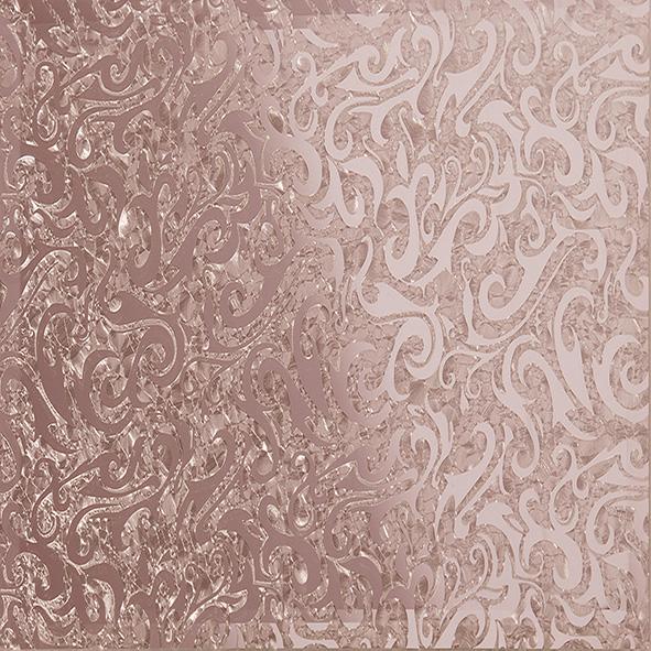 Квадратная зеркальная рыжая плитка Алладин-4 КЗРАл-4 - 300х300 мм/10шт женские кулоны jv серебряный кулон с куб циркониями ps0249 glzi 001 wg
