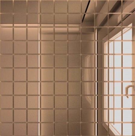 Мозаика зеркальная Бронза Б25 ДСТ 25 х 25/300 x 300 мм (10шт) - 0,9 мозаичный декор дст зеркальная бронза 2 5x2 5 30x30