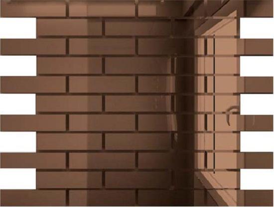 Мозаика зеркальная Бронза Б8025 ДСТ 80 х 25/300 x 300 мм (10шт) - 0,9 мозаичный декор дст зеркальная бронза 2 5x2 5 30x30