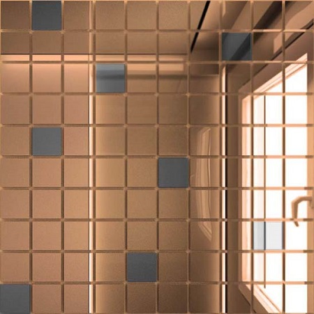 Мозаика зеркальная Бронза + Графит Б90Г10 ДСТ 25 х 25/300 x 300 мм (10шт) - 0,9 мозаичный декор дст зеркальная бронза 2 5x2 5 30x30