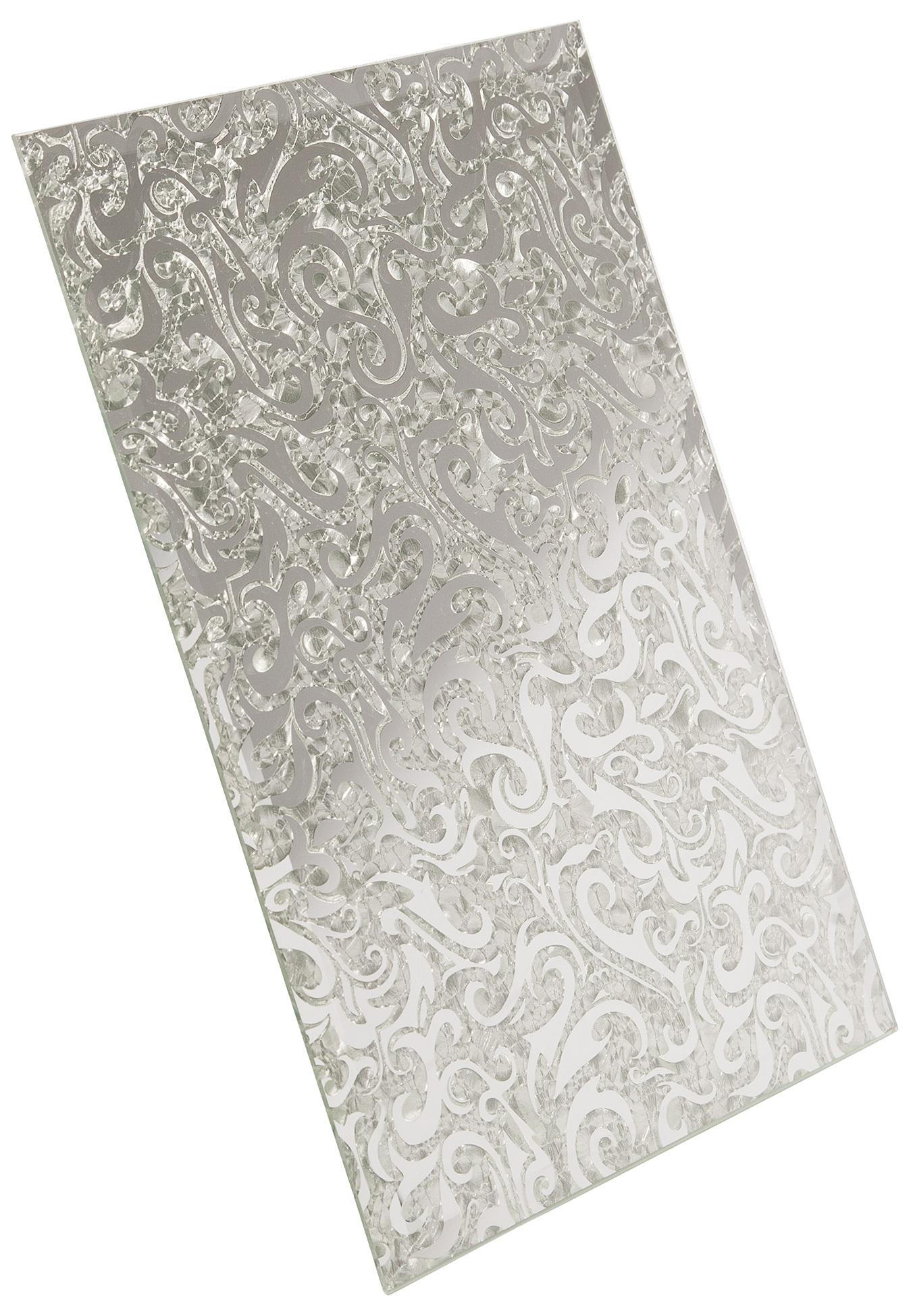 Плитка зеркальная серебряная Алладин-2 ПЗСАл-2 - 250х400 мм/10шт мозаичный декор дст зеркальная бронза 2 5x2 5 30x30