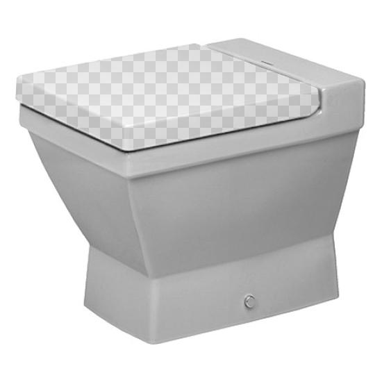 Приставной унитаз Duravit 2nd Floor 0110090000 без сидения унитаз приставной duravit d code 21150900002
