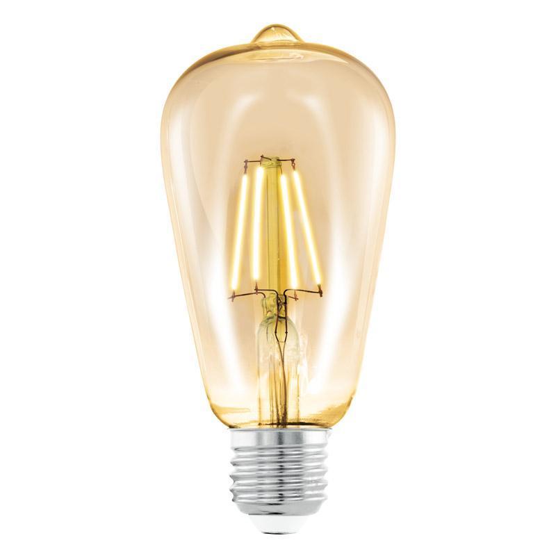 Лампа светодиодная филаментная E27 4W 2200К янтарь 11521 лампа светодиодная [поставляется по 10 штук] eglo лампа светодиодная st64 e27 4вт 2200k 11521 [поставляется по 10 штук]