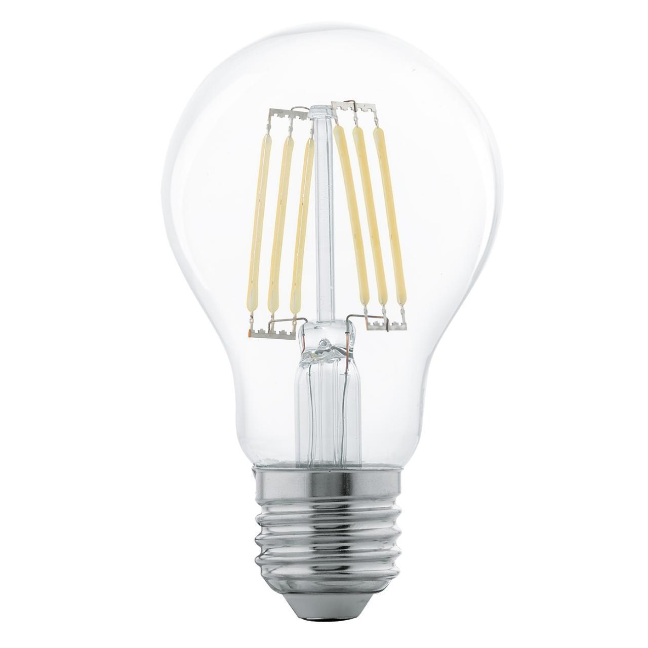 Лампа светодиодная филаментная E27 6W 2700К прозрачная 11501 lo 11501