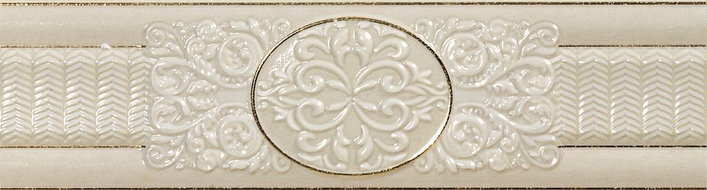 Бордюр El-Molino Cen Dario Dec Oro-Marfil 8х30