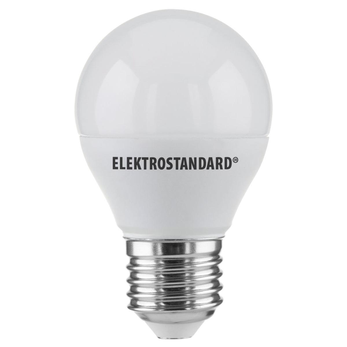 Лампа светодиодная E27 7W 3300K матовая 4690389085383 elektrostandard лампа светодиодная e14 7w 3300k шар матовый mini 4690389061622