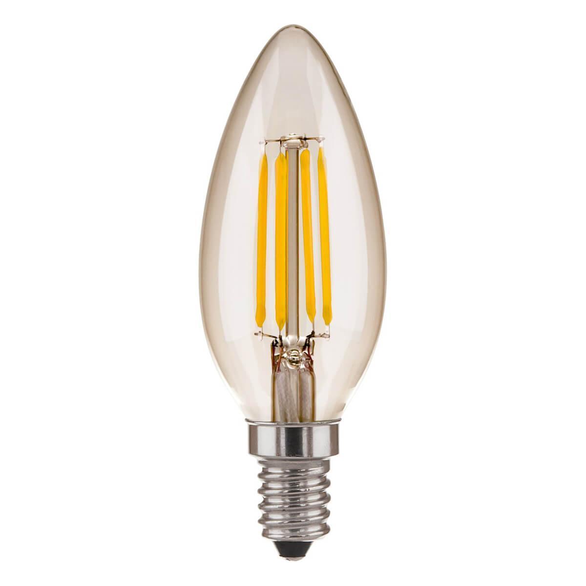 Лампа светодиодная филаментная E14 6W 4200K прозрачная 4690389110764 lightstar лампа светодиодная lightstar кукуруза прозрачная e14 6w 4200k 940354