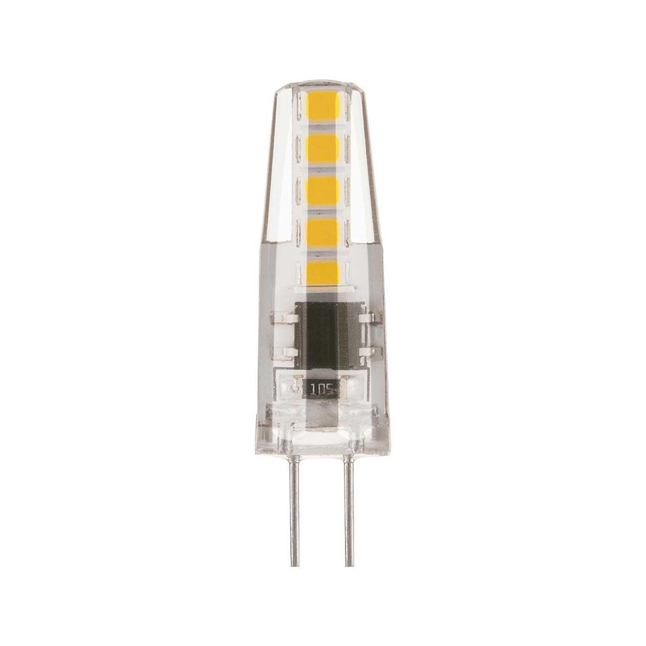 Лампа светодиодная G4 3W 3300K кукуруза прозрачная 4690389118975