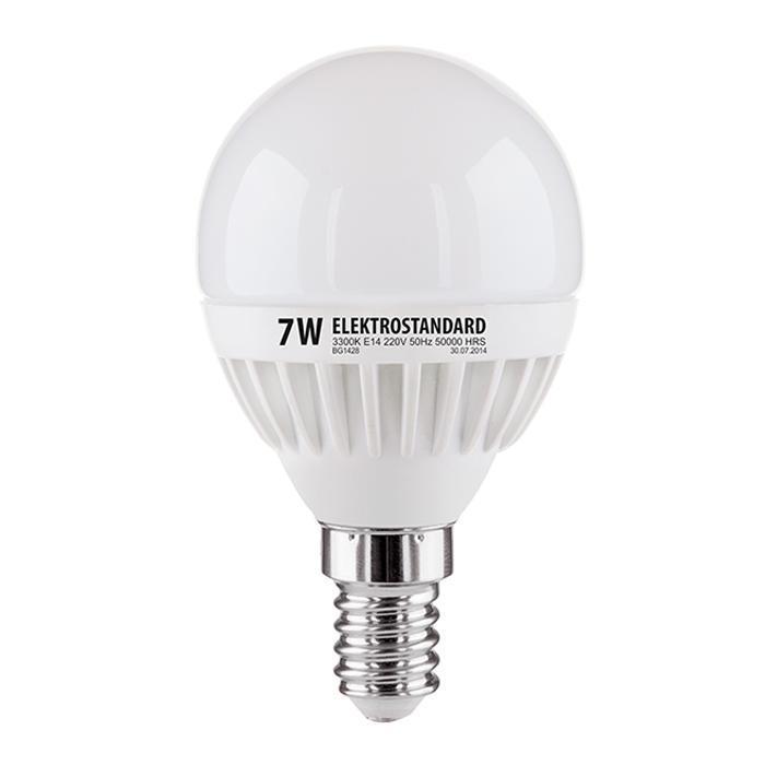 лампа светодиодная e14 7w 3300k шар матовый mini 4690389085376 Лампа светодиодная E14 7W 3300K матовая 4690389085376