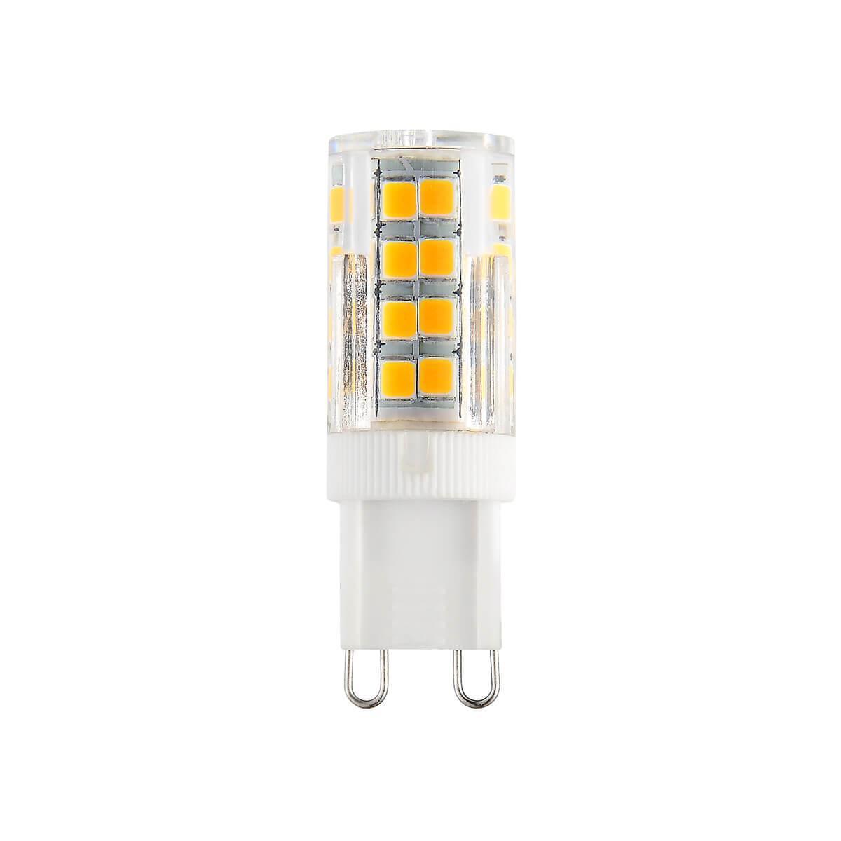 Лампа светодиодная G9 7W 3300K прозрачная 4690389112980 elektrostandard лампа светодиодная e14 7w 3300k шар матовый mini 4690389061622