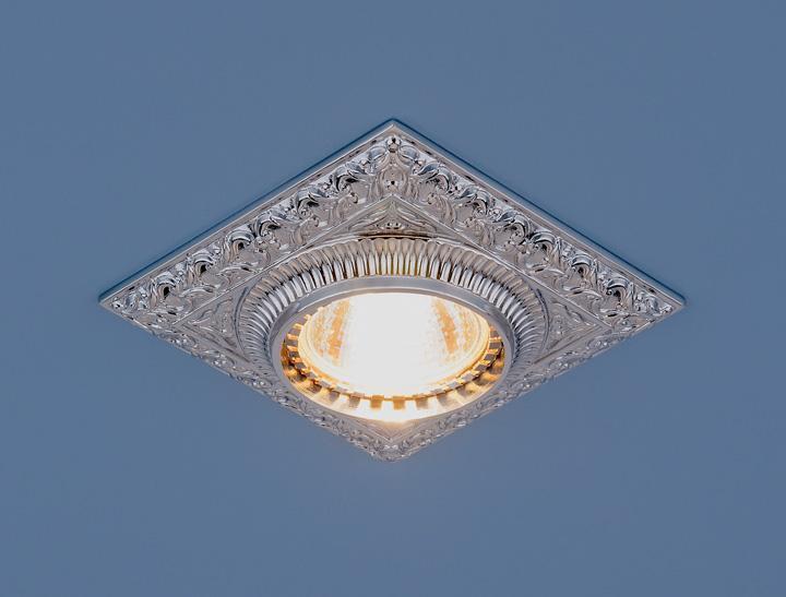 Фото - Встраиваемый светильник Elektrostandard 4104 MR16 CH хром 4690389045486 cветильник галогенный de fran встраиваемый 1х50вт mr16 ip20 зел античное золото