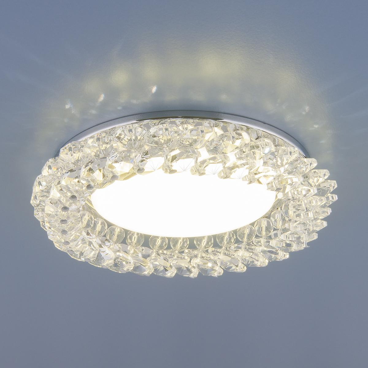 Встраиваемый светильник Elektrostandard 1063 GX53 CH/CL хром/прозрачный 4690389075667 встраиваемый светильник elektrostandard 1063 gx53 ch cl хром прозрачный 4690389075667
