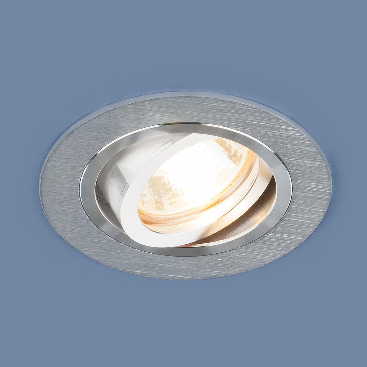 Встраиваемый светильник Elektrostandard 1061/1 MR16 SL серебро 4690389095498 встраиваемый светильник elektrostandard 1061 2 mr16 sl серебро 4690389095504