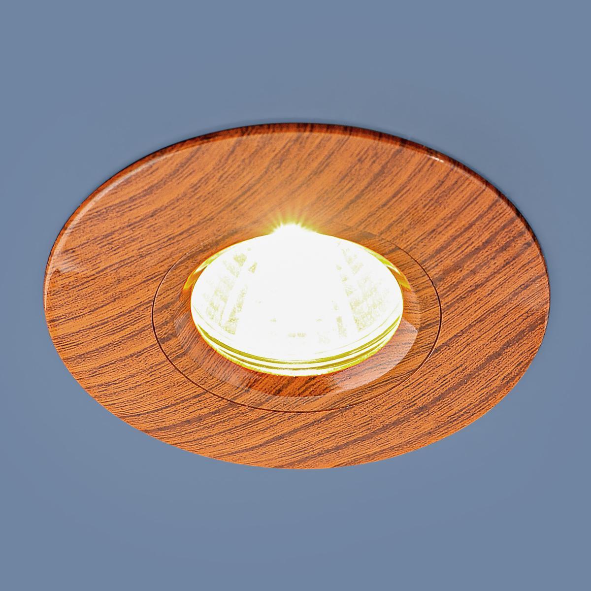 Встраиваемый светильник Elektrostandard 108 MR16 BR дуб 4690389081859 встраиваемый светильник elektrostandard 108 mr16 bg беленый дуб 4690389081866