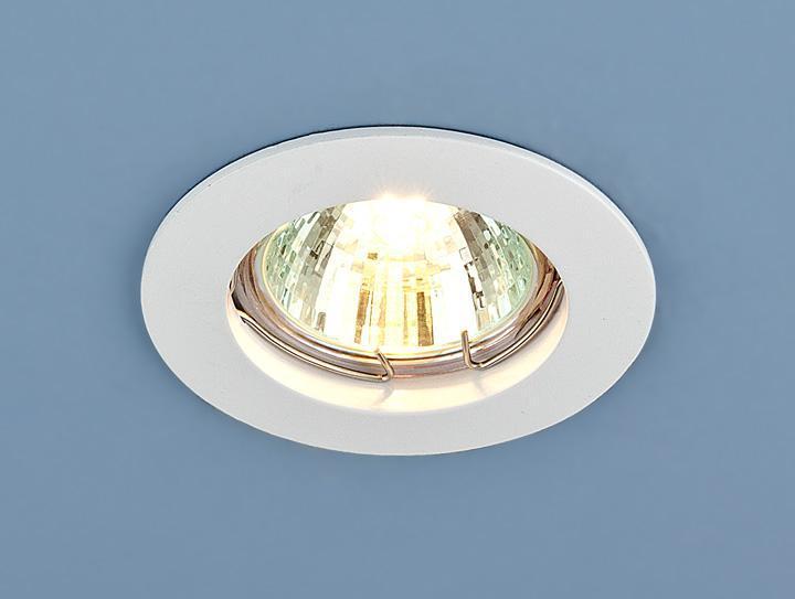 Фото - Встраиваемый светильник Elektrostandard 863 MR16 WH белый 4690389055515 cветильник галогенный de fran встраиваемый 1х50вт mr16 ip20 зел античное золото