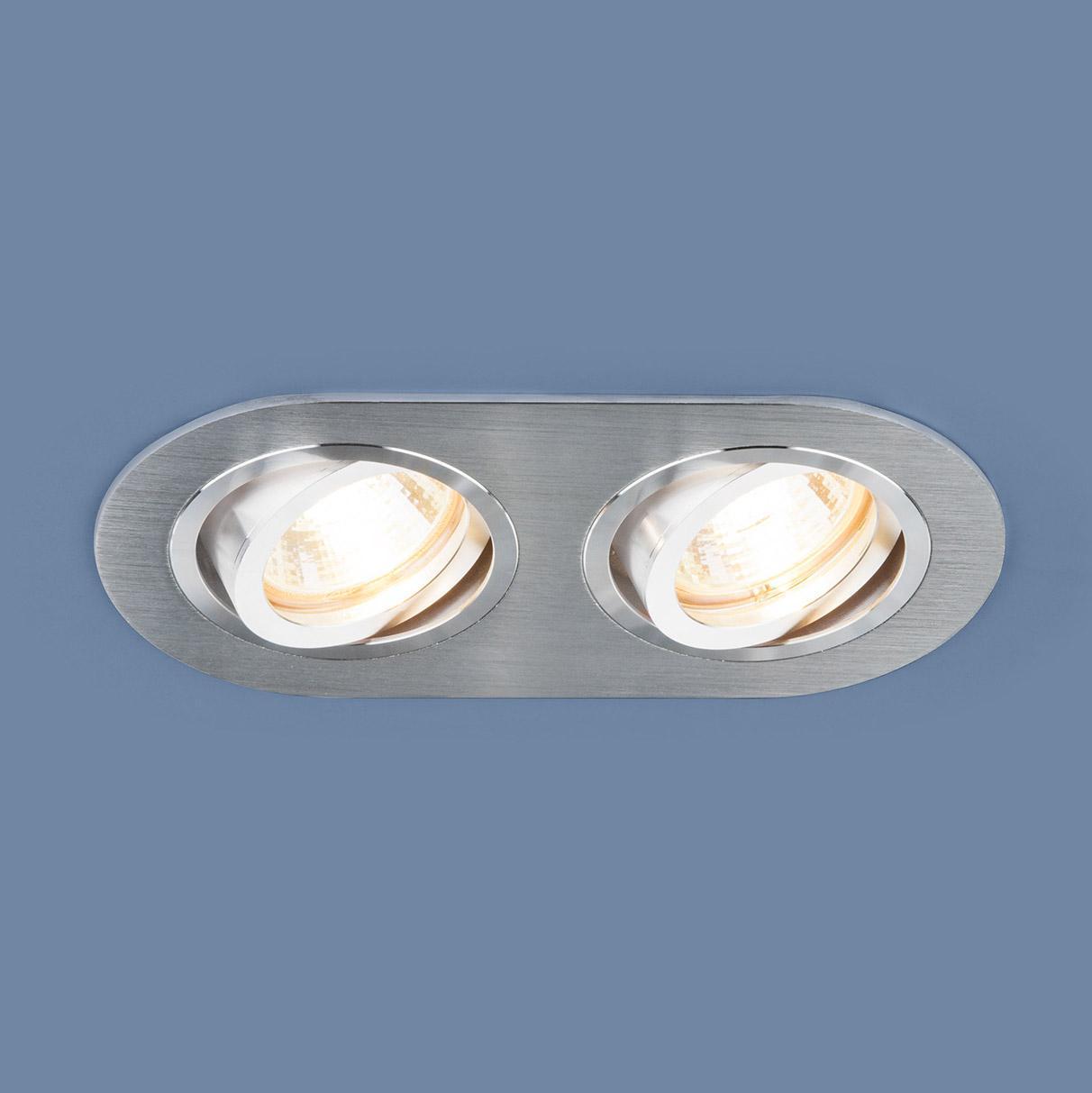 Фото - Встраиваемый светильник Elektrostandard 1061/2 MR16 SL серебро 4690389095504 cветильник галогенный de fran встраиваемый 1х50вт mr16 ip20 зел античное золото