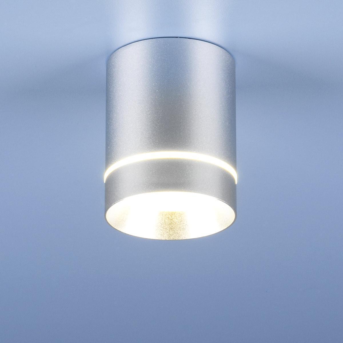 Потолочный светодиодный светильник Elektrostandard DLR021 9W 4200K хром матовый 4690389102943 трековый светодиодный светильник elektrostandard joli 9w 4200k ltb19 4690389111624