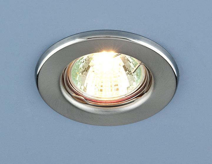 Фото - Встраиваемый светильник Elektrostandard 9210 MR16 SCH хром сатинированный 4690389055607 cветильник галогенный de fran встраиваемый 1х50вт mr16 ip20 зел античное золото