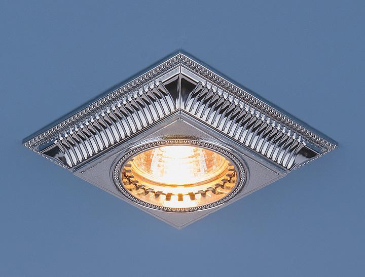 Фото - Встраиваемый светильник Elektrostandard 4102 MR16 CH хром 4690389045387 cветильник галогенный de fran встраиваемый 1х50вт mr16 ip20 зел античное золото