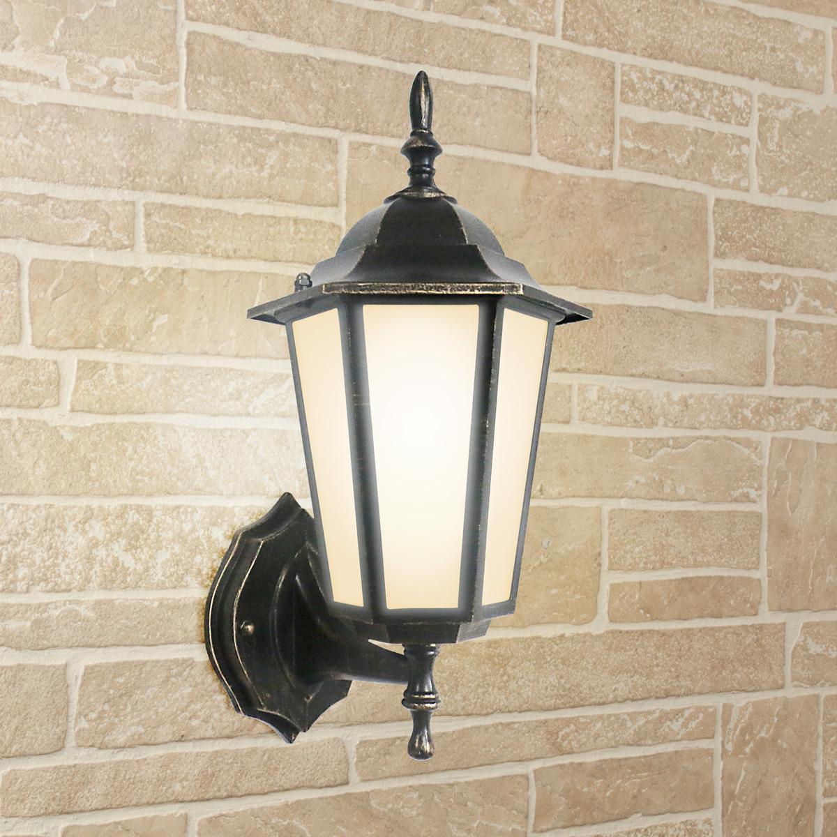 Уличный настеный светильник Elektrostandard 1004U черное золото 4690389085741 elektrostandard светильник уличный настенный elektrostandard gl 1004u черное золото 4690389085741