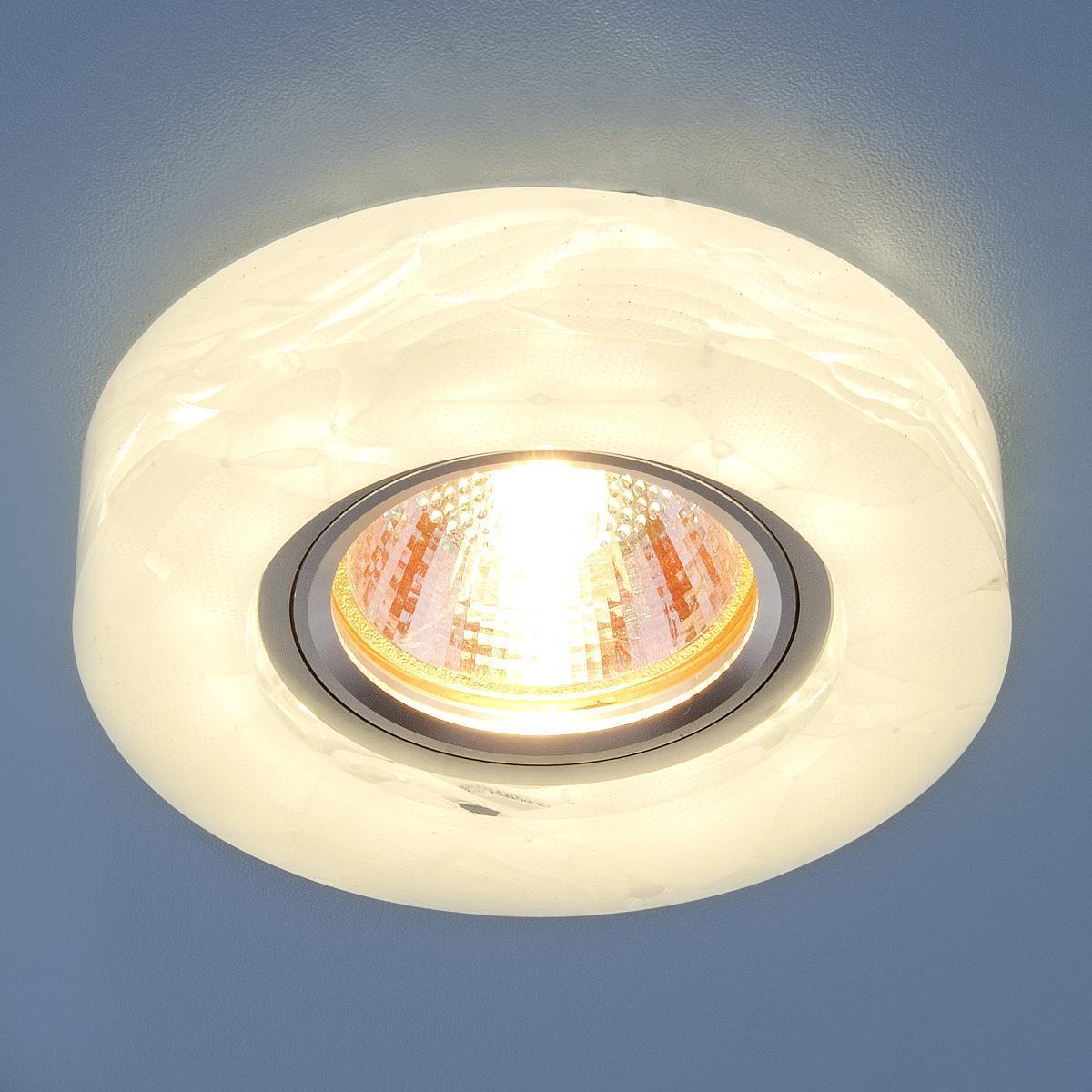 Фото - Встраиваемый светильник Elektrostandard 6062 MR16 WH белый 4690389068584 cветильник галогенный de fran встраиваемый 1х50вт mr16 ip20 зел античное золото
