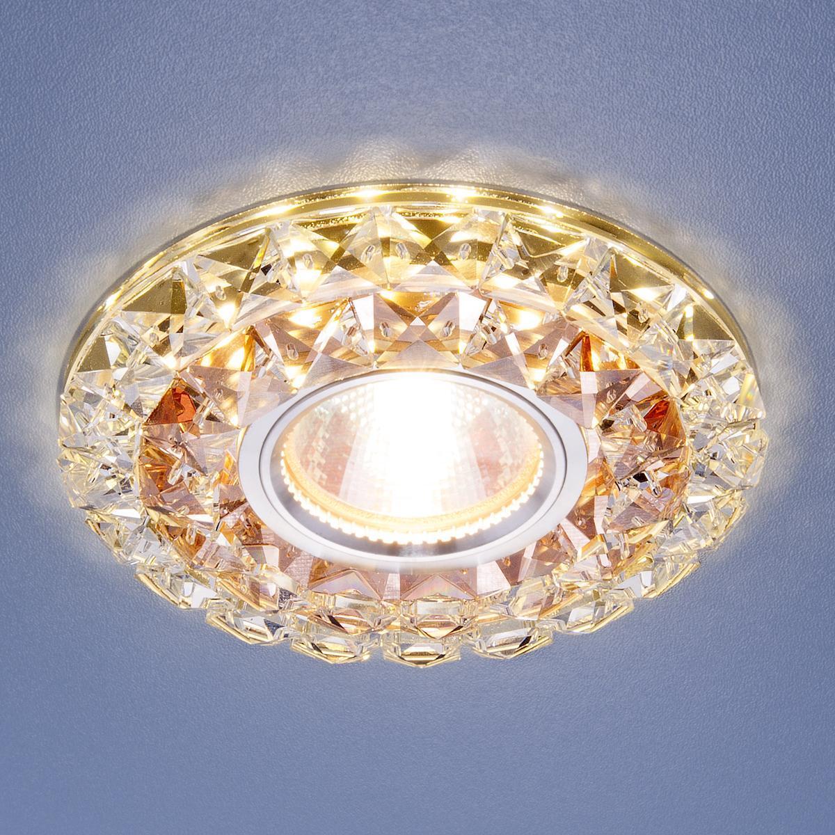Фото - Встраиваемый светильник Elektrostandard 2170 MR16 GC/CL тонированный/прозрачный 4690389074080 cветильник галогенный de fran встраиваемый 1х50вт mr16 ip20 зел античное золото