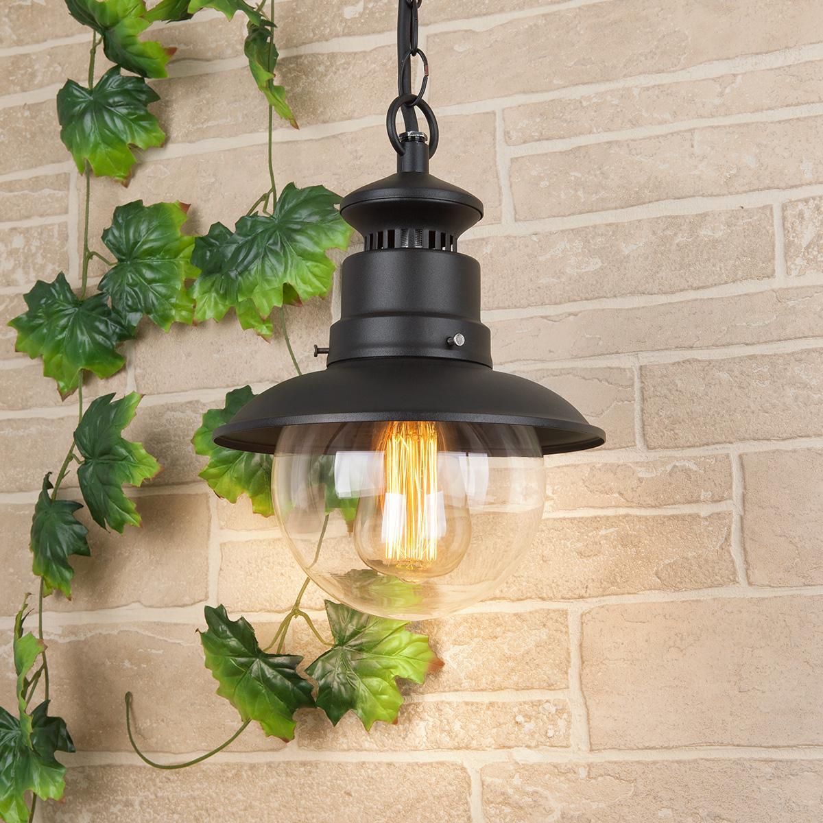 Уличный подвесной cветильник Elektrostandard Talli H GL 3002H черный 4690389106590 life in trend cветильник подвесной ship lantern