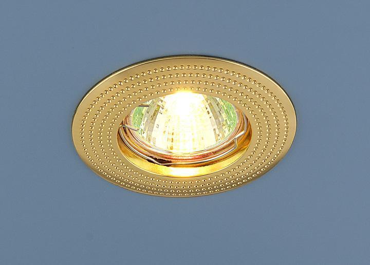 Встраиваемый светильник Elektrostandard 601 MR16 GD золото 4690389011016 светильник встраиваемый акцент 16001ba жемчужное золото золото