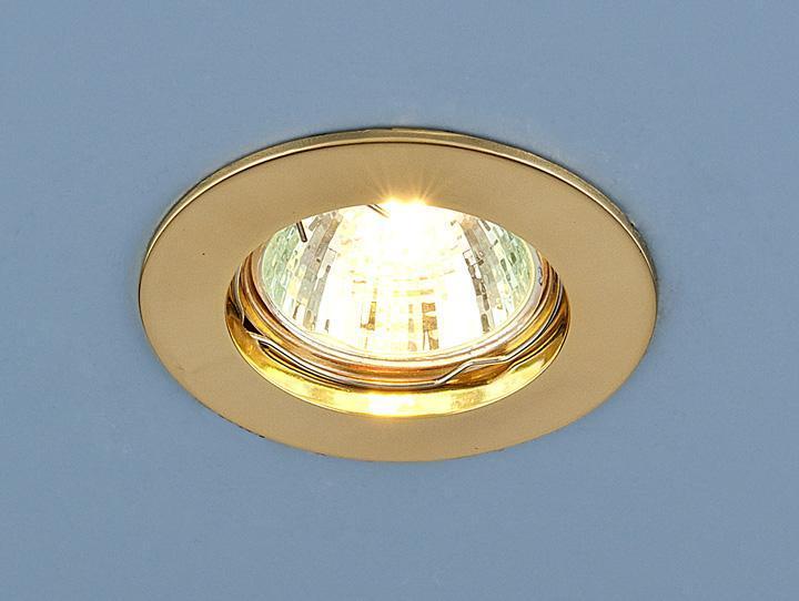 Встраиваемый светильник Elektrostandard 863 MR16 GD золото 4690389055539 светильник встраиваемый акцент 16001ba жемчужное золото золото