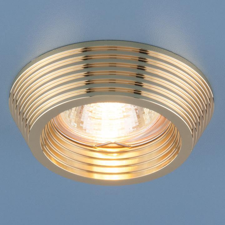 Встраиваемый светильник Elektrostandard 6066 MR16 GD золото 4690389055690 светильник встраиваемый акцент 16001ba жемчужное золото золото