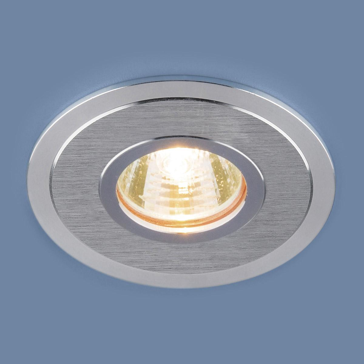 Фото - Встраиваемый светильник Elektrostandard 2016 MR16 SCH сатин хром 4690389064159 cветильник галогенный de fran встраиваемый 1х50вт mr16 ip20 зел античное золото