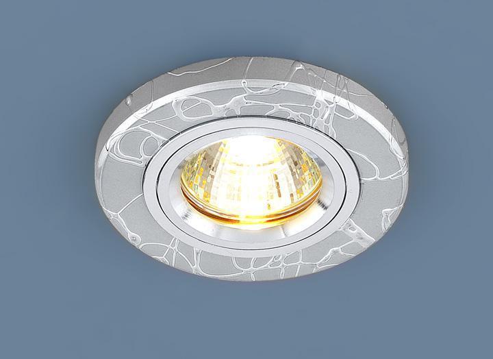 Фото - Встраиваемый светильник Elektrostandard 2050 MR16 SL серебро 4607176194838 cветильник галогенный de fran встраиваемый 1х50вт mr16 ip20 зел античное золото