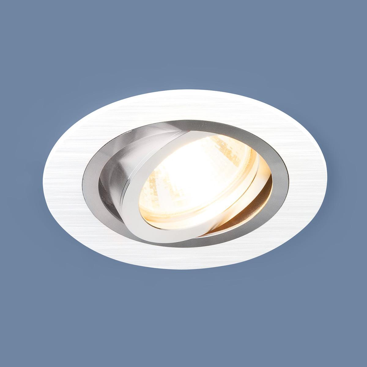 Фото - Встраиваемый светильник Elektrostandard 1061/1 MR16 WH белый 4690389095474 cветильник галогенный de fran встраиваемый 1х50вт mr16 ip20 зел античное золото