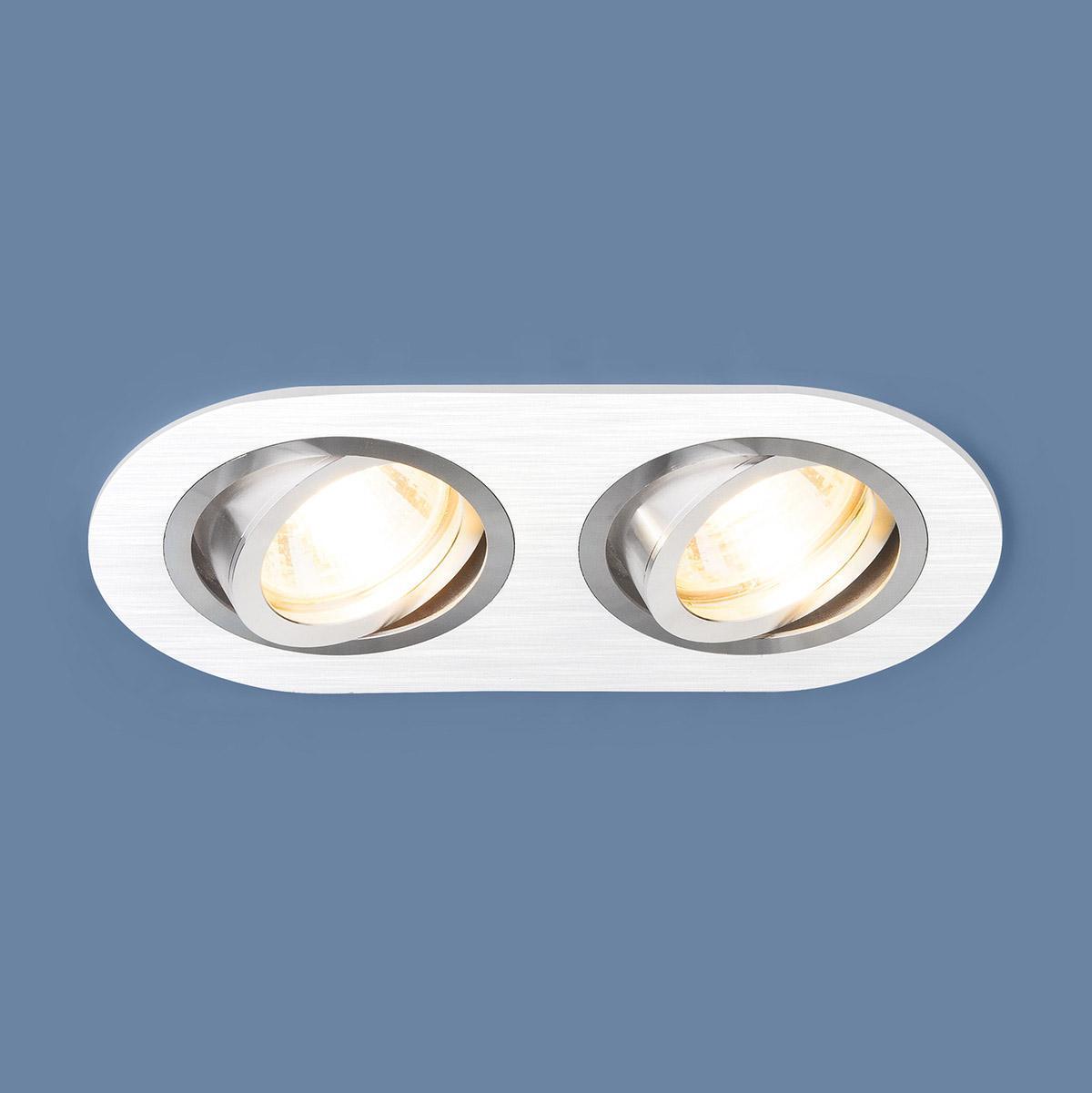 Встраиваемый светильник Elektrostandard 1061/2 MR16 WH белый 4690389095481 встраиваемый светильник elektrostandard 1061 1 mr16 wh белый 4690389095474