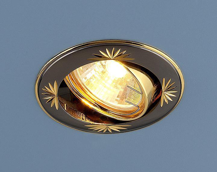 Встраиваемый светильник Elektrostandard 104A MR16 GU/GD черный/золото 4607176194289 светильник встраиваемый акцент 16001ba жемчужное золото золото