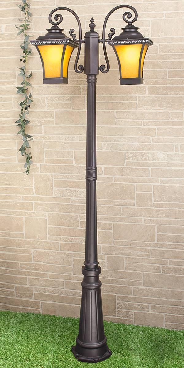 Садово-парковый светильник Elektrostandard Libra F/2 венге 4690389064753 фонарный столб elektrostandard libra f 2 венге арт glxt 1408f 2