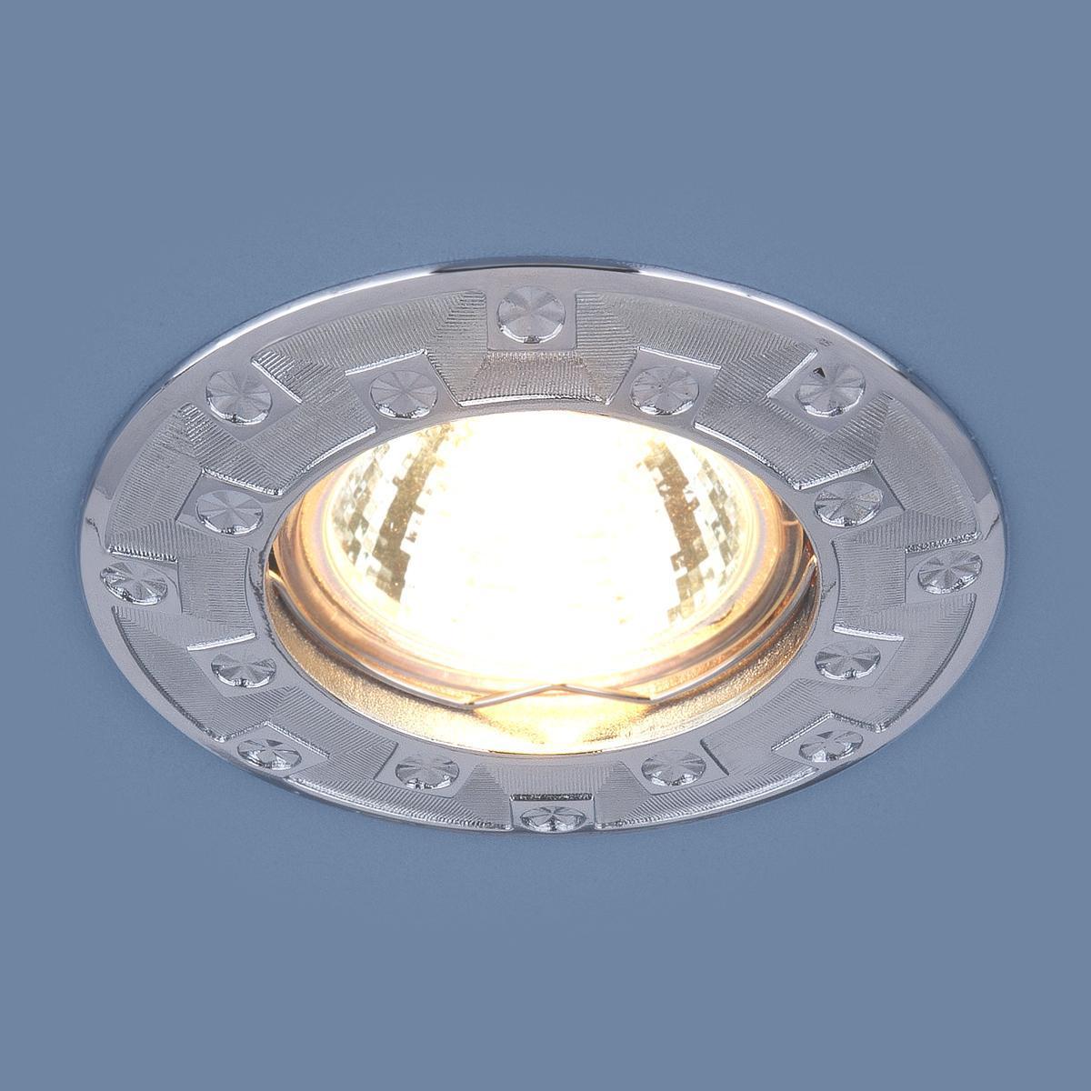 Фото - Встраиваемый светильник Elektrostandard 7202 MR16 CH хром 4690389044168 cветильник галогенный de fran встраиваемый 1х50вт mr16 ip20 зел античное золото