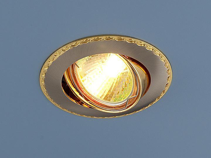 Встраиваемый светильник Elektrostandard 635 MR16 SNG сатин никель/золото 4690389010996 встраиваемый светильник elektrostandard 635 mr16 sng сатин никель золото 4690389010996