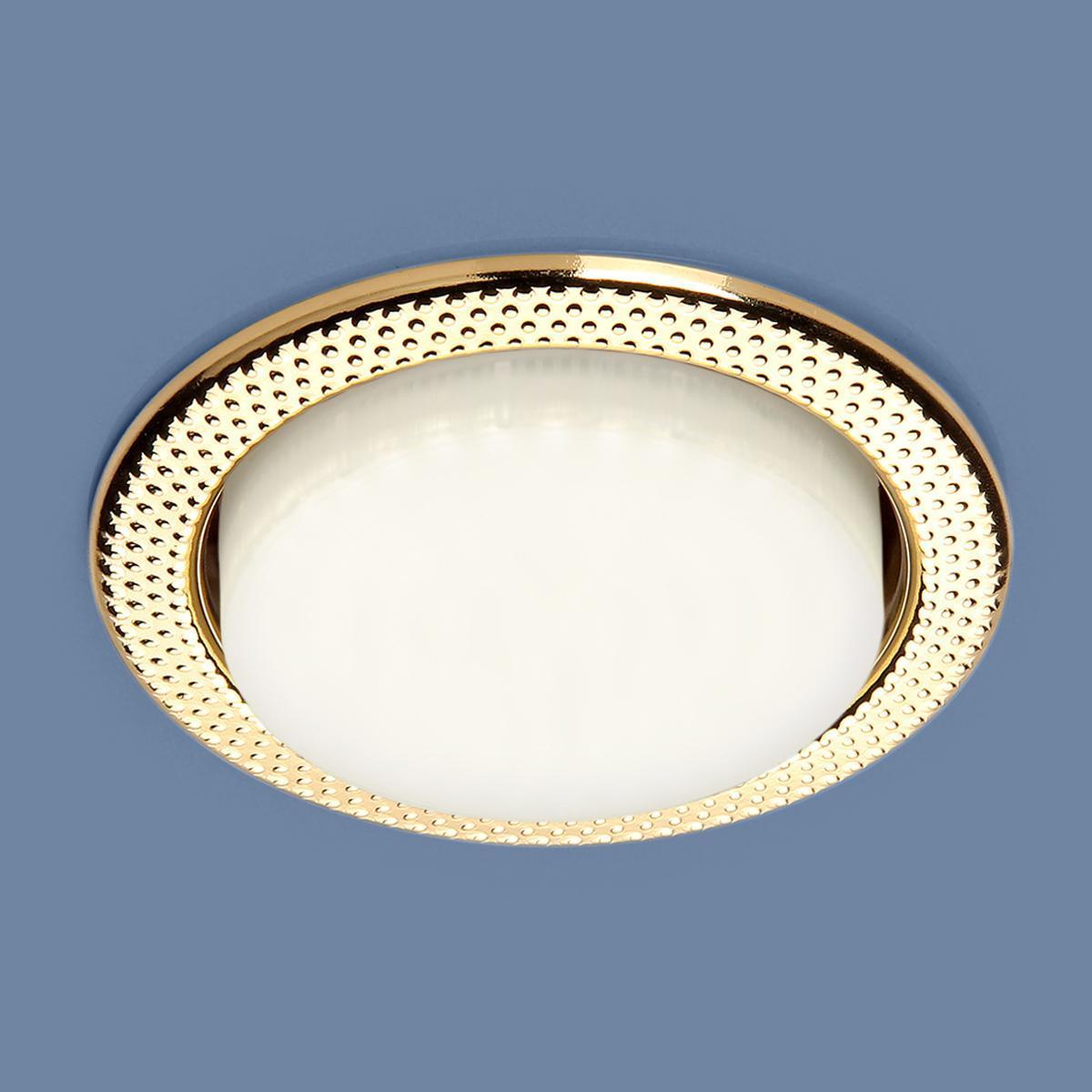 Встраиваемый светильник Elektrostandard 1066 GX53 GD золото 4690389078699 встраиваемый светильник elektrostandard 1066 gx53 ch хром 4690389078682