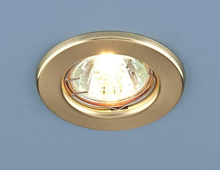 Встраиваемый светильник Elektrostandard 9210 MR16 SGD золото матовое 4690389055577 светильник встраиваемый акцент 16001ba жемчужное золото золото
