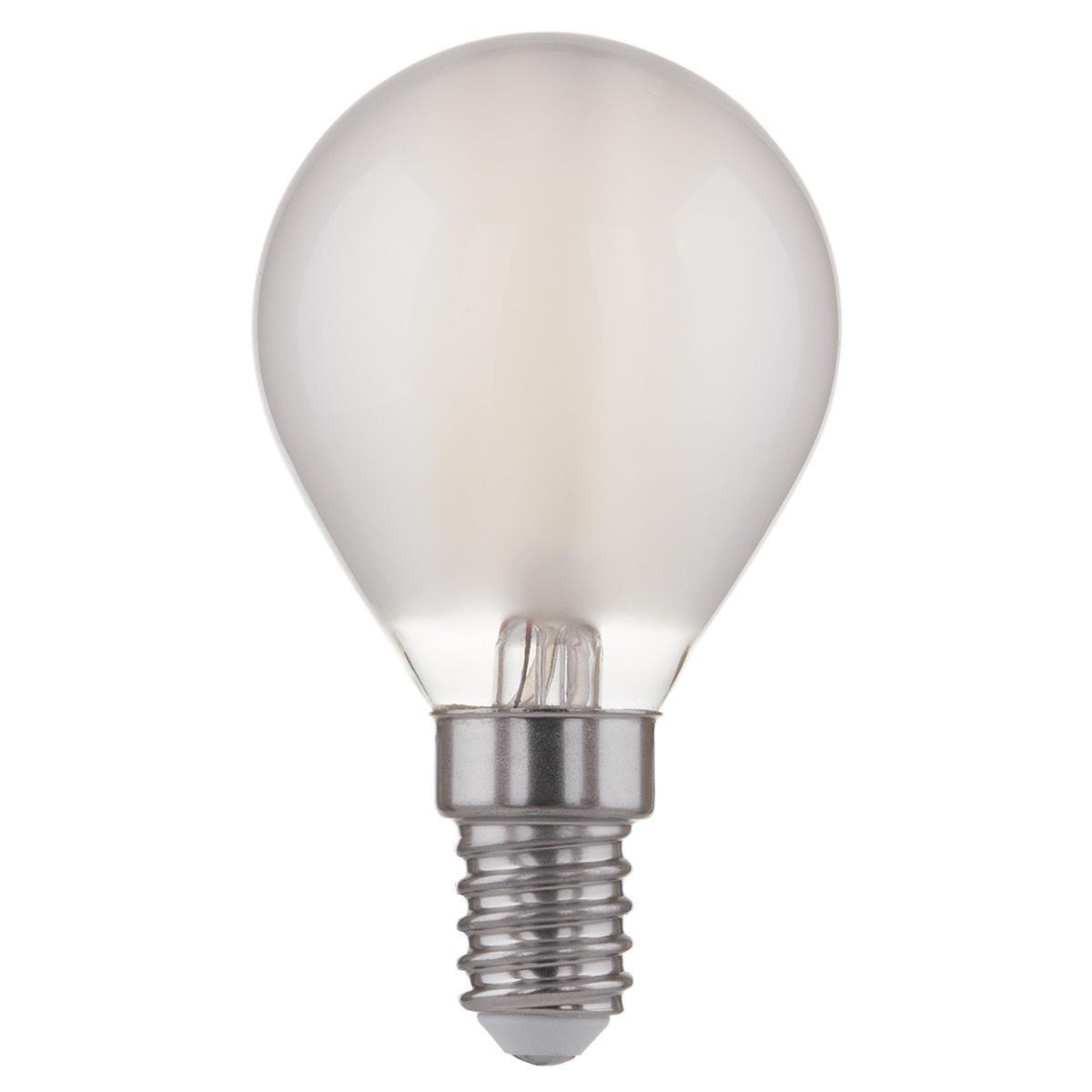 Лампа светодиодная филаментная F E14 6W 4200K матовая 4690389108310 lightstar лампа светодиодная lightstar кукуруза прозрачная e14 6w 4200k 940354