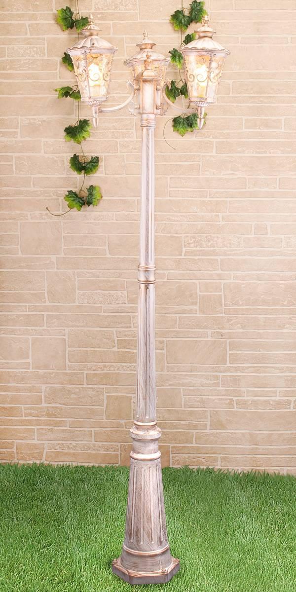 Садово-парковый светильник Elektrostandard Diadema F/3 GLYF-8046F/3 белое золото 4690389082504 садово парковый светильник elektrostandard diadema f 3 glyf 8046f 3 белое золото 4690389082504