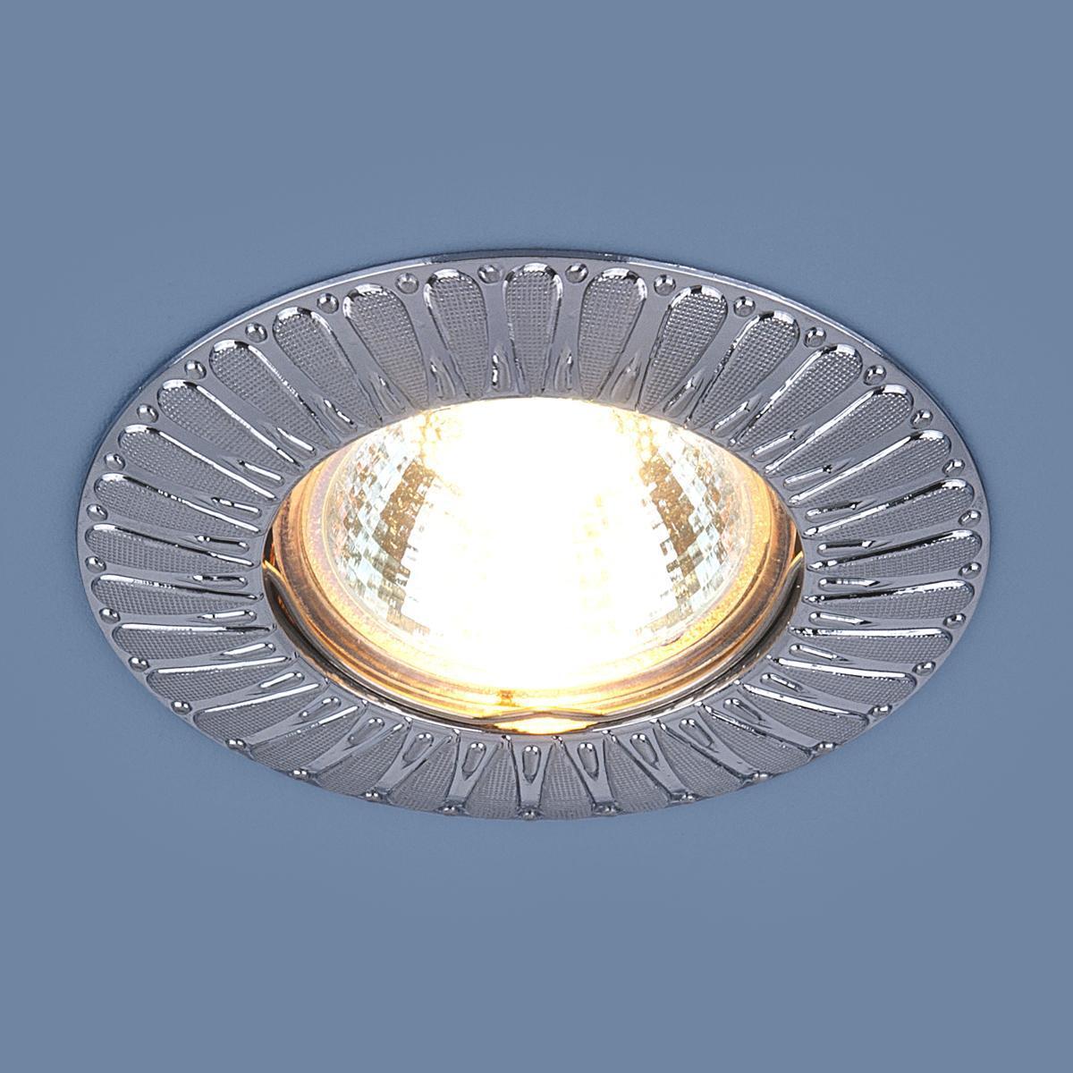 Фото - Встраиваемый светильник Elektrostandard 7203 MR16 SCH сатин хром 4690389044205 cветильник галогенный de fran встраиваемый 1х50вт mr16 ip20 зел античное золото