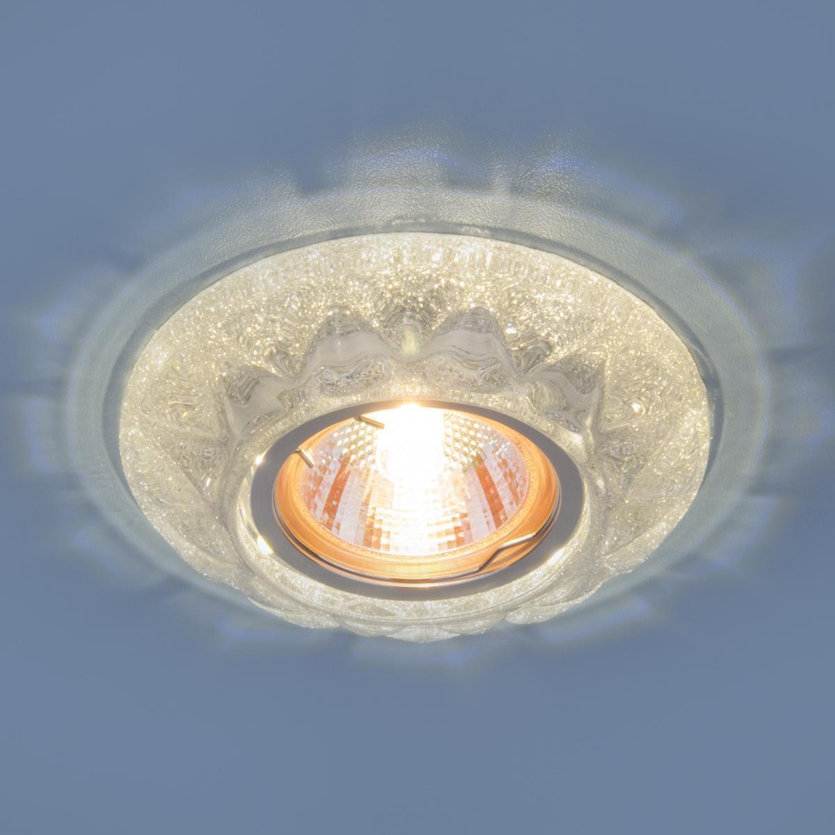 Фото - Встраиваемый светильник Elektrostandard 7249 MR16 SL серебряный блеск 4690389069208 cветильник галогенный de fran встраиваемый 1х50вт mr16 ip20 зел античное золото