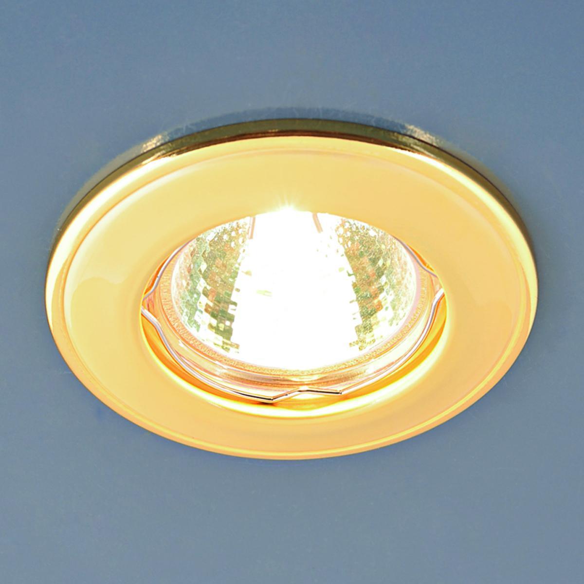 Встраиваемый светильник Elektrostandard 7002 MR16 GD матовое золото 4690389082542 светильник встраиваемый акцент 16001ba жемчужное золото золото